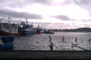 some of the few big fishing boats left on the island