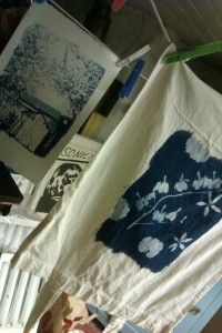 some of the finished products hanging to dry