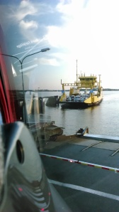 car-ferry and double-decker bus
