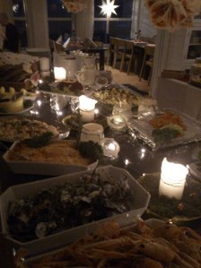 seafood table