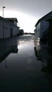 The sea moving into the streets