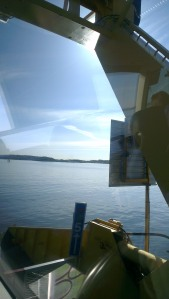 on the bus on the ferry...