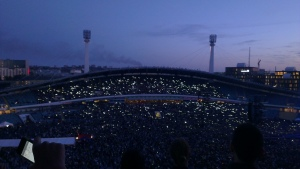 I remember the old days when people used lighters, not phones, but it was still very pretty