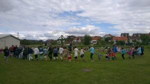 Dancing around the Midsummer pole