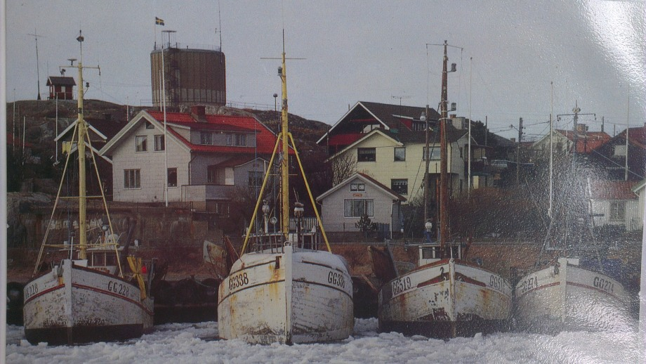 Hönö Klåva harbour, when there were many more fishing boats that today and ice