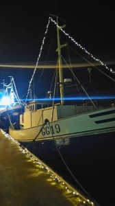 Even the fishing boats look festive!