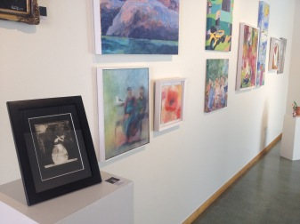 Exhibition at the library, part of The art wave