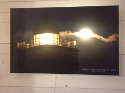 Vinga lighthouse lit up Photo:Paul Hultsbo