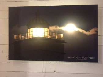 Vinga lighthouse lit up Photo:Paul Hultsbo